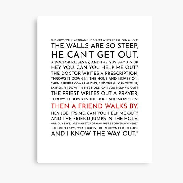 Guy Falls Into a Hole - Leo McGarry's Speech Canvas Print