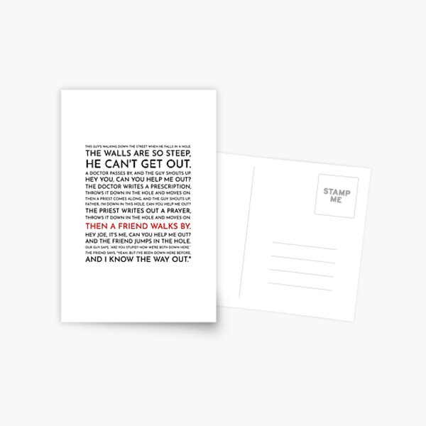 Guy Falls Into a Hole - Leo McGarry's Speech Postcard