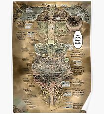 Made in Abyss World Map Poster
