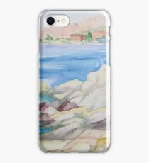 Watercolor landscape iPhone Case/Skin