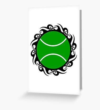 tennis : tribalz Greeting Card