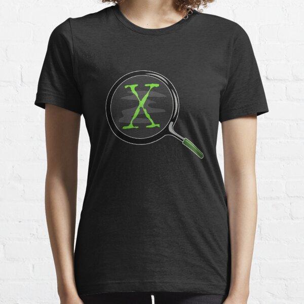 X - Magnifying Glass T-shirt - X-Files Essential T-Shirt
