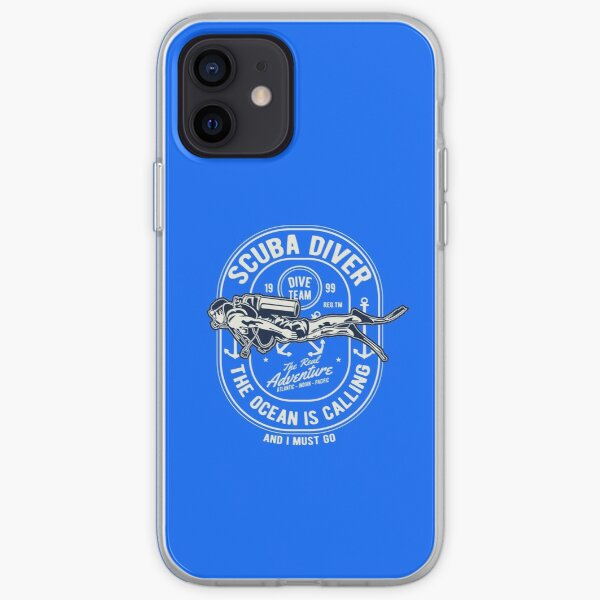 Scuba Diver - The Ocean Is Calling - And I Must Go iPhone Soft Case