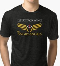 The Angry Angels : 127th Attack Wing Tri-blend T-Shirt