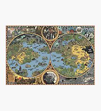 """HP Lovecraft """"Dreamland"""" Map High Quality Photographic Print"""