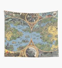 """HP Lovecraft """"Dreamland"""" Map High Quality Wall Tapestry"""