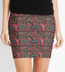 Elephants at Sunset Mini Skirt