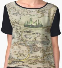 The Wizard of Oz World Map High Quality Chiffon Top