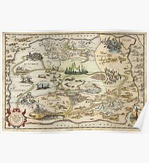The Wizard of Oz World Map High Quality Poster