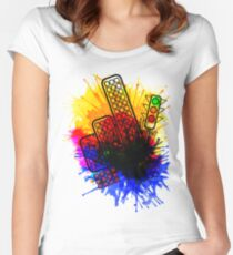 City Splatter Women's Fitted Scoop T-Shirt