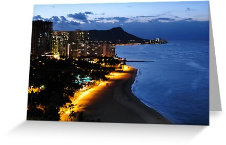 Waikiki By Night by Cheryl  Lunde