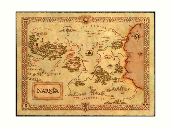 World Map Of Narnia High Quality Art Prints By Whatsonyourmind