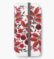 Kalyna Ukrainian Embroidered Vyshyvanka Print iPhone Wallet/Case/Skin