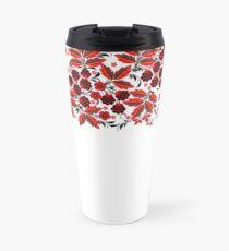 Kalyna Ukrainian Embroidered Vyshyvanka Print Travel Mug