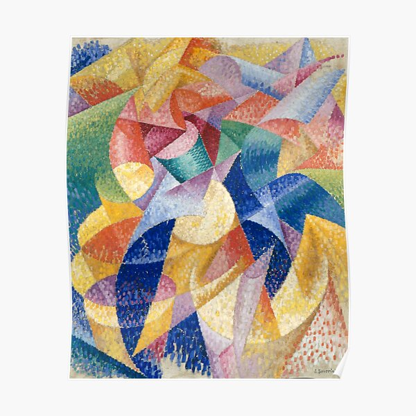 Print, artist, painter, craftsman, Gino Severini, futurism, futurist, art Poster