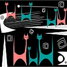 Mid-Century Modern Cats by Gail Gabel, LLC