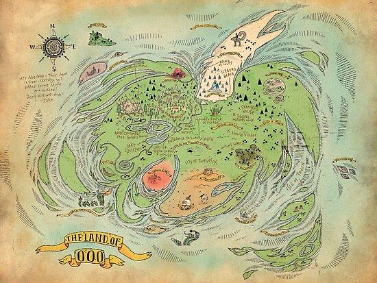 Psters la tierra de ooo world map adventure time high quality de la tierra de ooo world map adventure time high quality de whatsonyourmind gumiabroncs Images