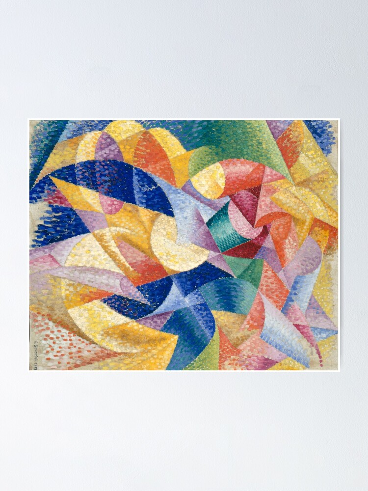 Alternate view of #Artist, #painter, #craftsman, #Gino #Severini, #futurism, #futurist, #art, #GinoSeverini Poster