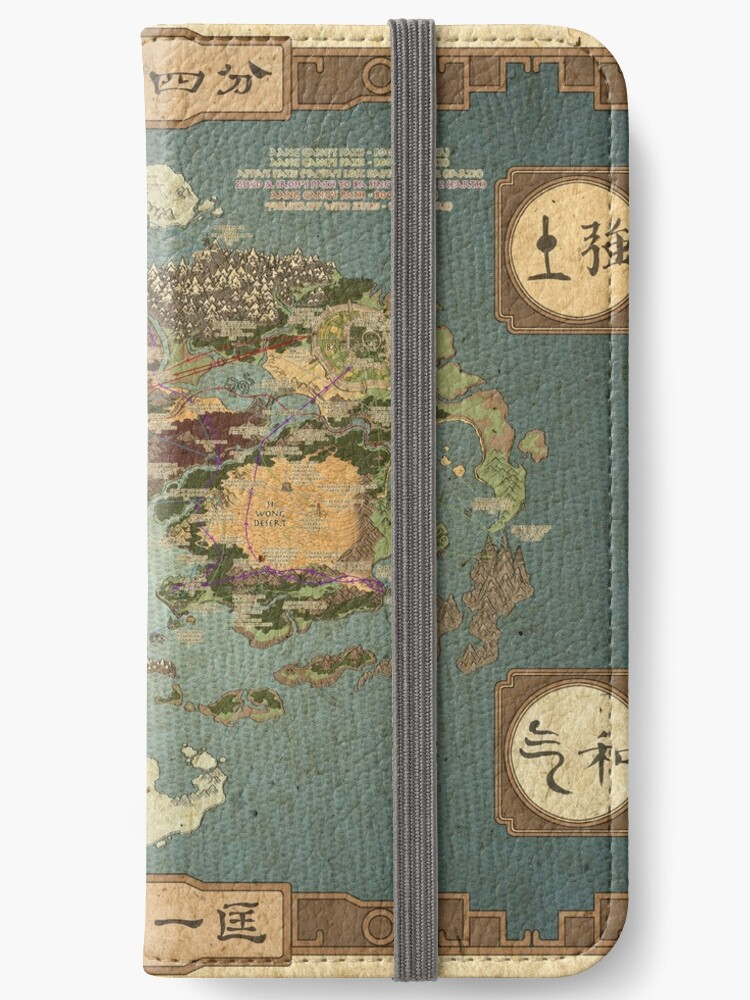 Avatar the Last Airbender Map Books 1-3 High Quality\