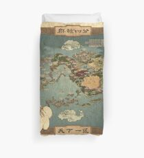 Avatar the Last Airbender Map Books 1-3 High Quality Duvet Cover
