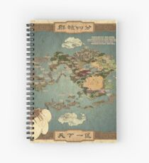 Avatar the Last Airbender Map Books 1-3 High Quality Spiral Notebook