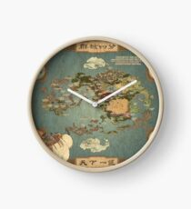 Avatar the Last Airbender Map Books 1-3 High Quality Clock