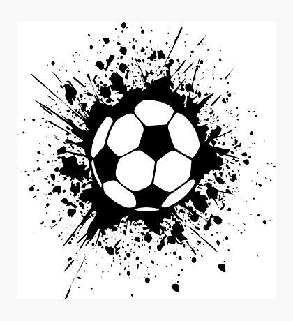 futbol : soccer splatz Photographic Print