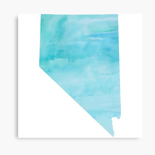 Blue Watercolor Nevada Canvas Print