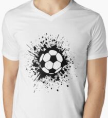 futbol : soccer splatz Men's V-Neck T-Shirt