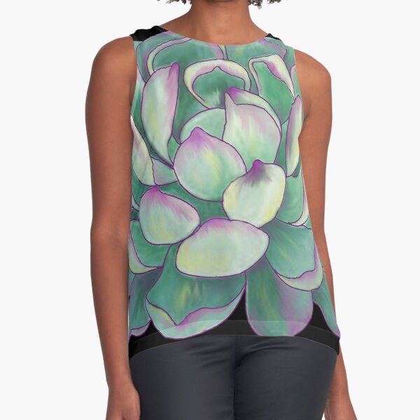Succulent plant Sleeveless Top