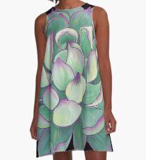 Sukkulente Pflanze A-Linien Kleid