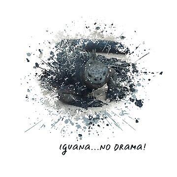 Iguana No Drama Humor by ClaudiaFlores