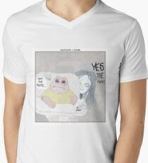 Dinosaurs + Mama Men's V-Neck T-Shirt