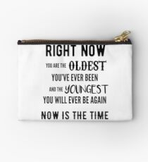 Now is the Time Studio Pouch