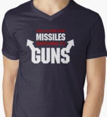 Too Close for Missiles, Switching to Guns Men's V-Neck T-Shirt