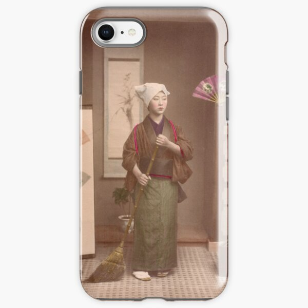 Japanese girl sweeping iPhone Tough Case