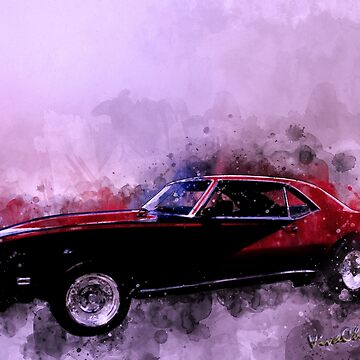 69 Camaro Up at Rocky Ridge at the Lake - Watercolour by ChasSinklier