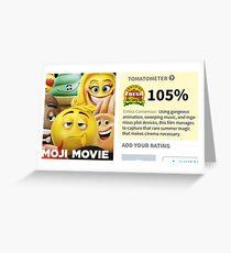 The Emoji Movie Review Jacksfilms Greeting Card