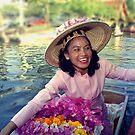 Flower Seller on the Bangkok Klongs by Bev Pascoe