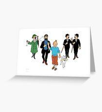 Tintin + Friends Greeting Card