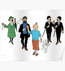 Tintin + Friends Poster