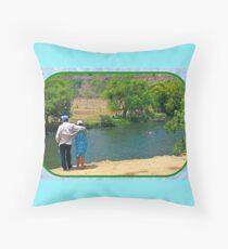 Enjoying a Grand River Throw Pillow