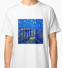 Van Gogh Starry Night Over Rhone Classic T-Shirt