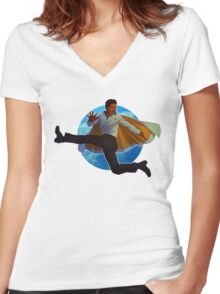 Lando Calrissian Women's Fitted V-Neck T-Shirt