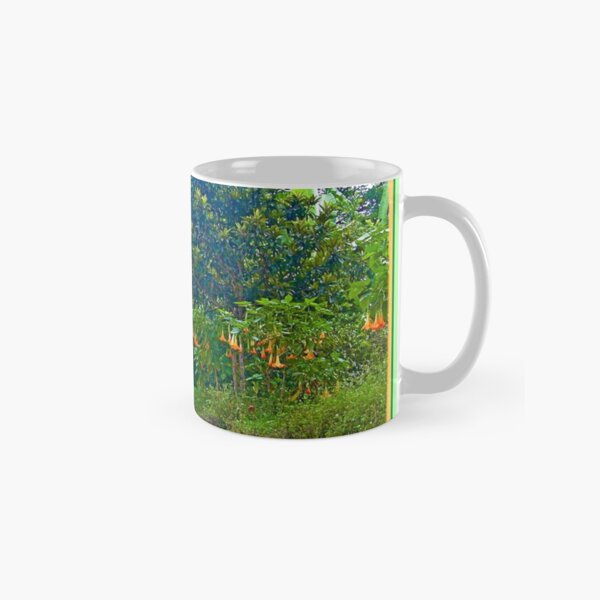 Back Road with Trumpet Flowers Classic Mug