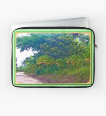 Back Road with Trumpet Flowers Laptop Sleeve