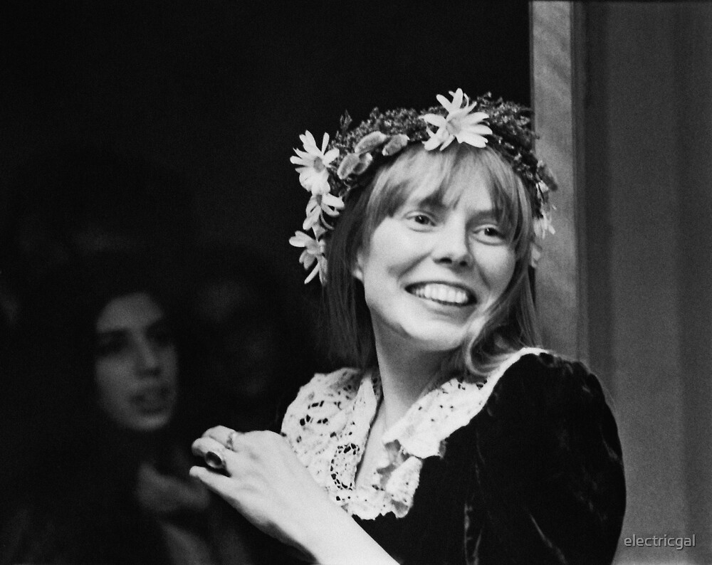 joni mitchell - flower crown by electricgal