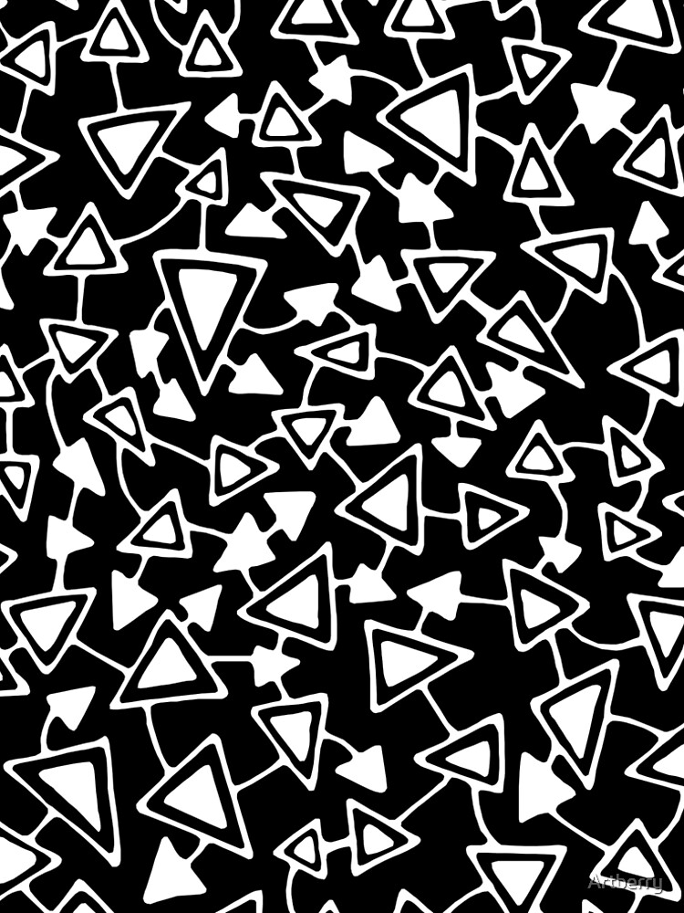 Abstract 021112 - White on Black by Artberry