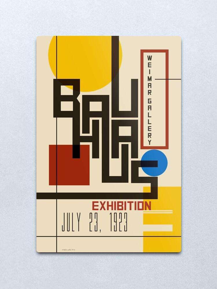 Alternate view of Bauhaus Poster I Metal Print
