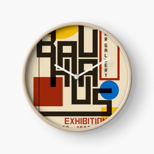 Bauhaus Poster I Clock